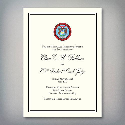 Fichtner Investiture Invitation (Set of 150)