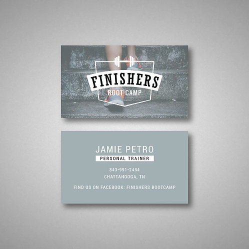 Finishers Boot Camp Business Cards (Set of 100)