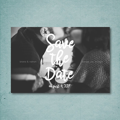 Large Lettering Save the Date (Set of 25)