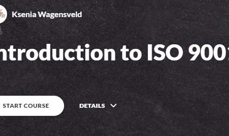 Our first eLearning Solution - Introduction to ISO 9001