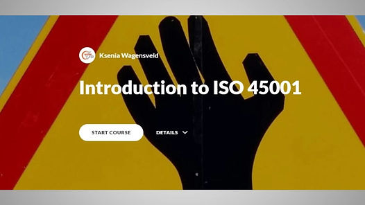 Introduction to ISO45001 eLearning