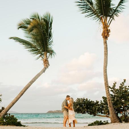 St. Thomas Engagement Session | US Virgin Islands | Sapphire Beach