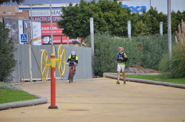 Santy y Jitka en meta run&bike
