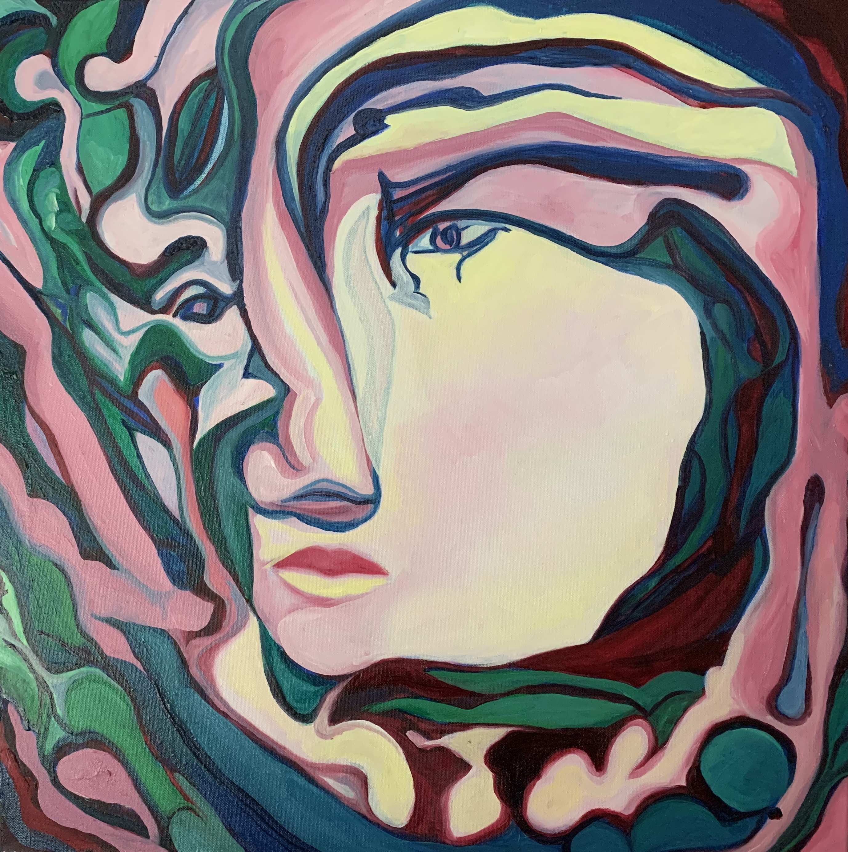 Charlotte Mouquin - Visions 2 24x24- oil
