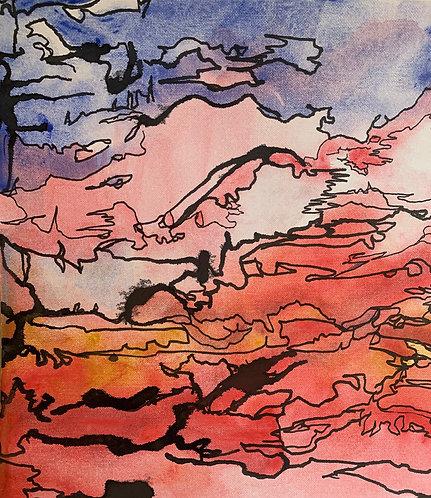 "Original Ink Drawing - 2020 - 10x10"""