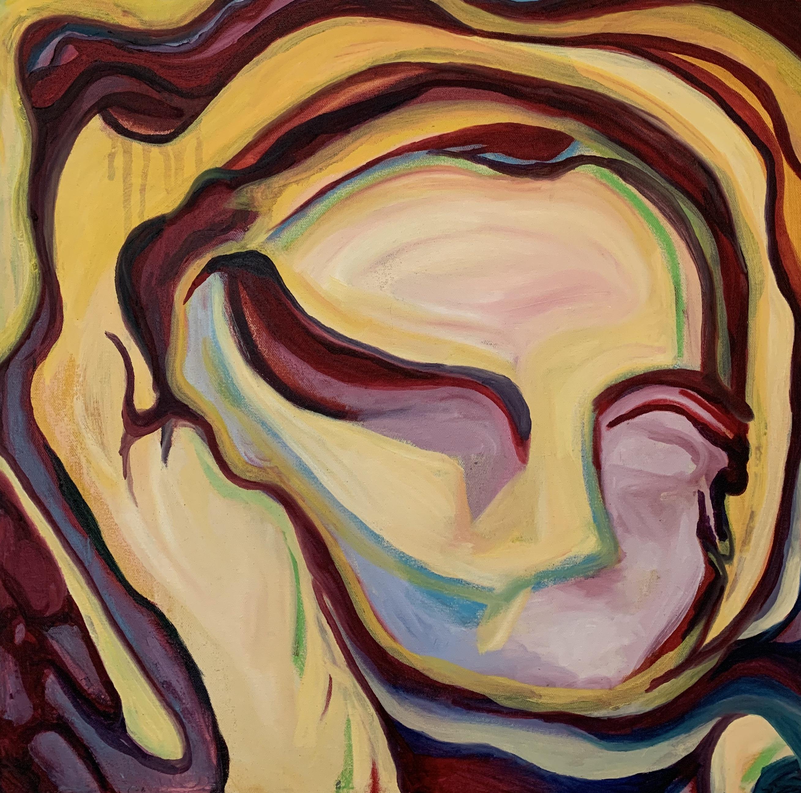 Charlotte Mouquin - Mask 1 20x20in- oil