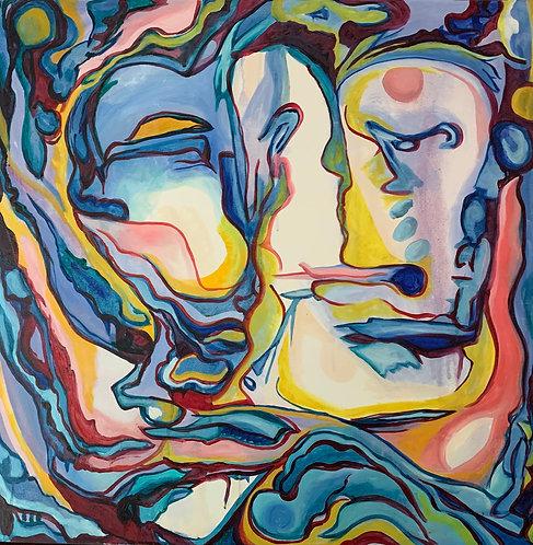 "Original Painting ""Encompassed"" Oil on Canvas 36x36"""