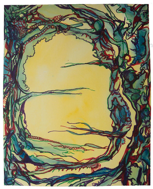 "Original Watercolor ""Wear Your Branches"" 6, 18 x 24"" circa 2015"