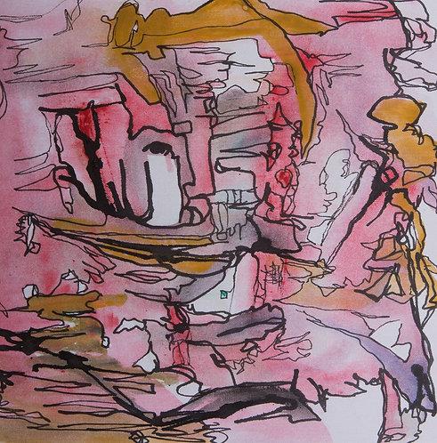 "Original Ink Drawing, 2020 #6, 10x10"""