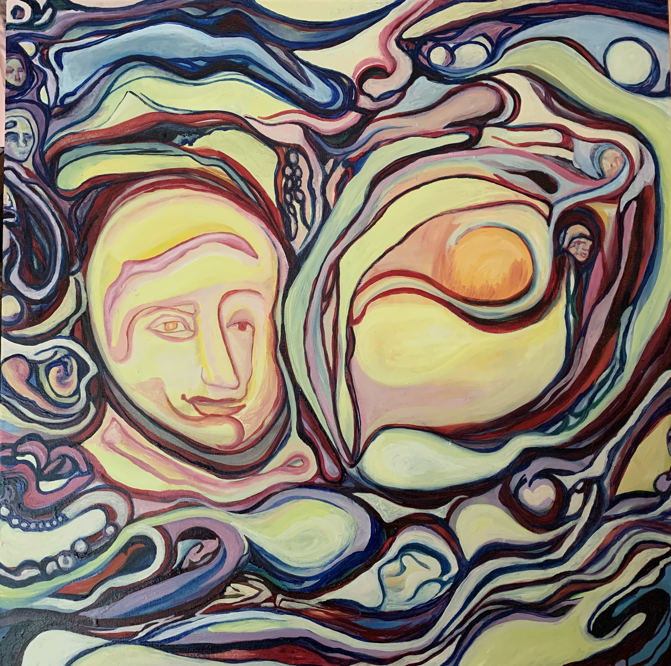 Charlotte Mouquin - Together 1 36x36- oi