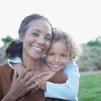 Grandma and Grandchild in Embrace