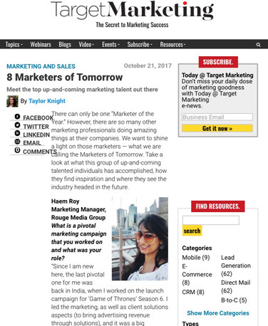 Marketer of Tomorrow