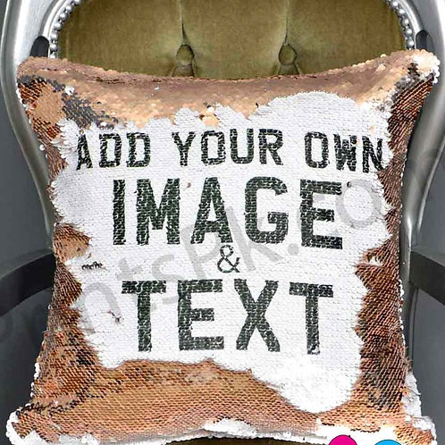 Customized Sequin Pillow w/ Picture