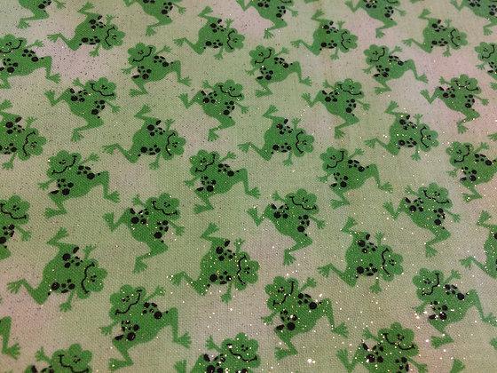 Green Glitter Frogs