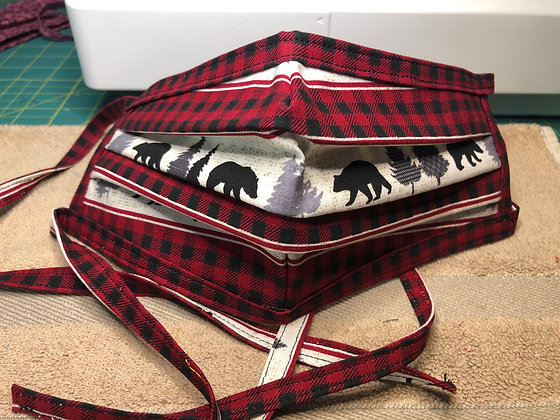 Plaid Wildlife Mask