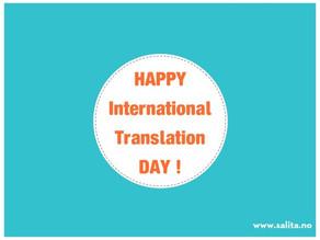 Gratulerer med den internasjonale oversettelsesdagen!:-)