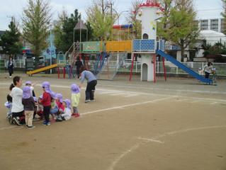 2歳児分離クラス避難訓練
