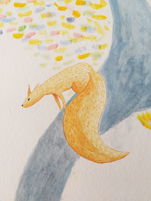 Eichhörnchen  wandbemalung berlin