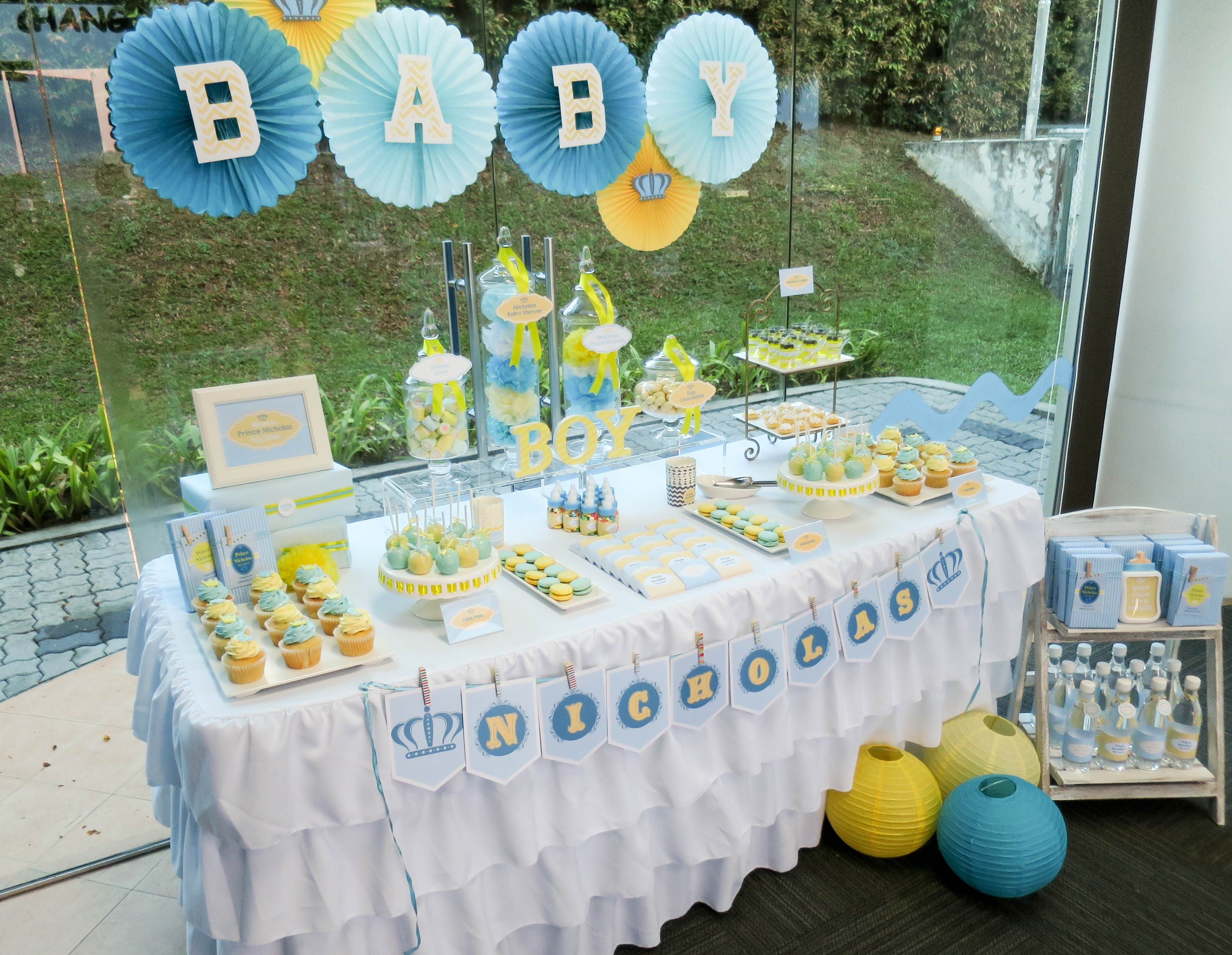 Royal Prince Baby Shower Dessert Table Singapore