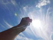 太陽に向かってガッツポーズ.jpg