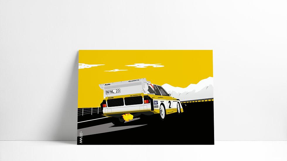 Audi Quattro S1 MINIMAL Art