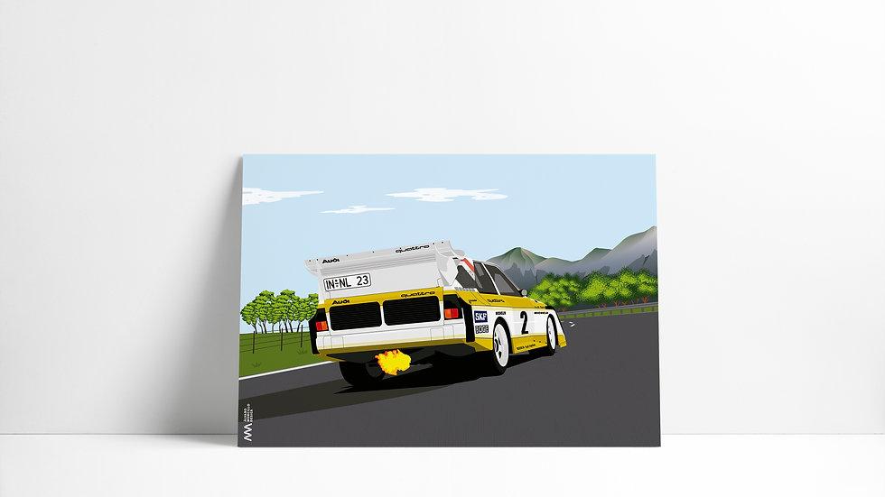 Audi Quattro S1 paisaje Art
