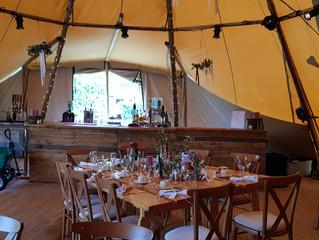 Stunning Tipi Wedding Bar Lancashire