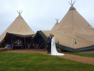 Congratulations to Steve & Steph. Amazing day at their tipi wedding.