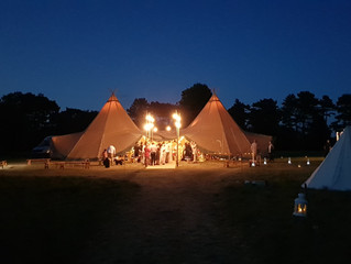 Amazing Harry Potter Themed Tipi Wedding Bar