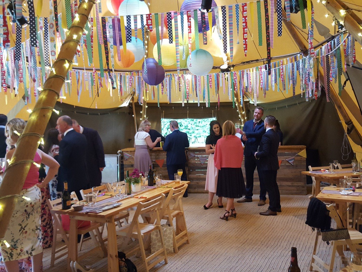 Fabulous Decorated Tipi Wedding Bar