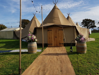 Perfect Tipi Wedding & Bar in Lancashire.