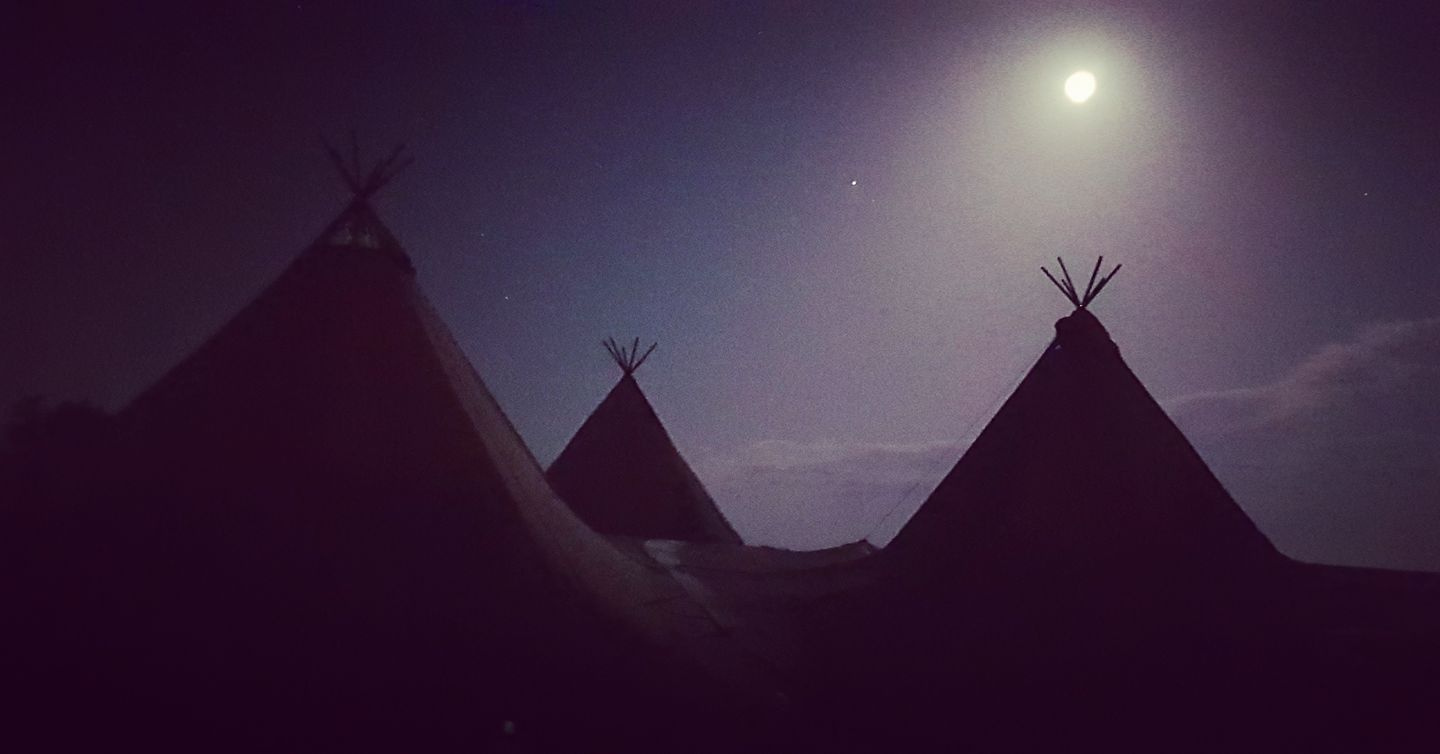 Tipis at Night
