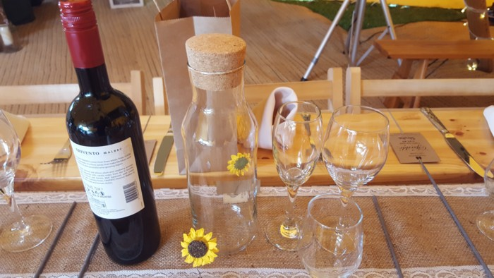 Wedding glasses with Carafe