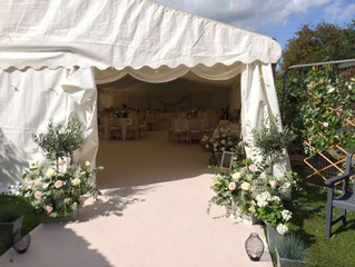 Marquee Wedding bar at home in Cheshire!