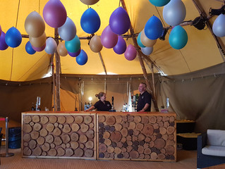 21st Party Bar in a Tipi