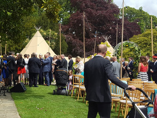 Congratulations Gemma & Christian. Wonderful North Wales Tipi Wedding Bar