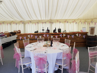 Congratulations Steph & Phil. Amazing marquee wedding bar in the Cheshire countryside