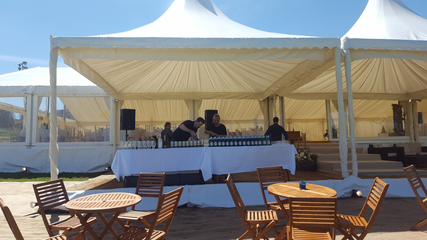 Marquee Welcome Drinks Ready
