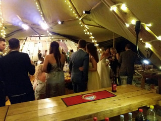 The first of 4 weddings this weekend! A lovely tipi wedding.