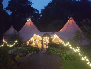 Fabulous Tipi from 'All About Me' Marquees & Events