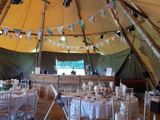 Tipi Wedding near Congleton, Cheshire