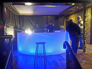 LED Mobile Bar Before Serving