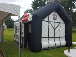 Inflatable Pub at Stapeley House wedding Show