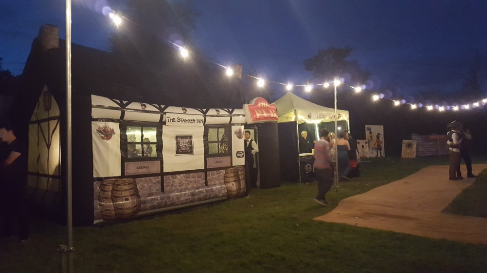 Inflatable Pub at a Wedding