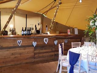 Amazing Tipi Wedding Bar in Cheshire