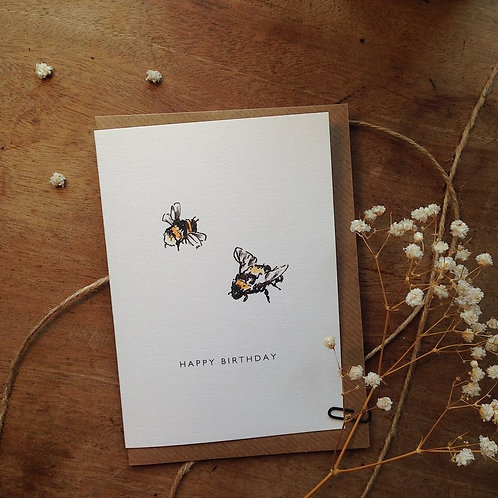 Bees Birthday Card
