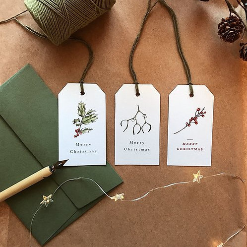 3 Gift Tags - Winter Berries