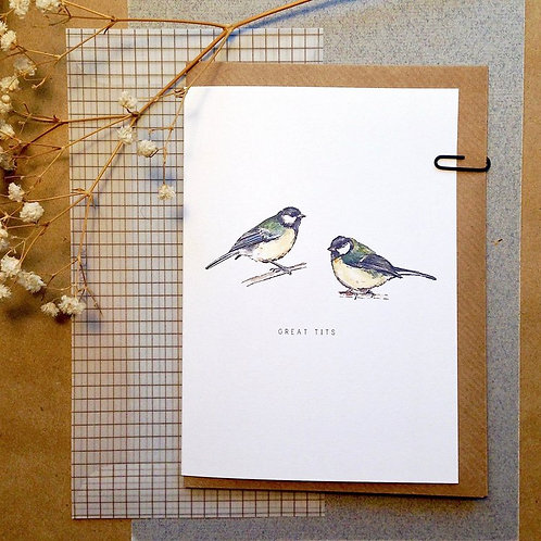 Great Tits Card