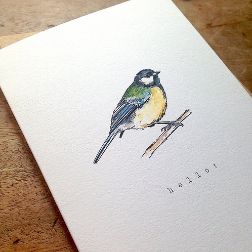 Great Tit Note Card