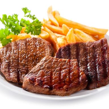 صحن ستيك لحم